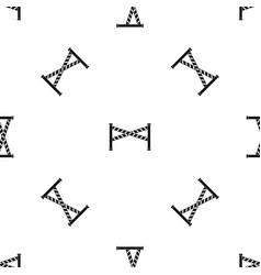 Police line pattern seamless black vector