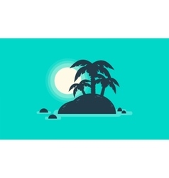 Silhouette of beautiful islands landscape vector image