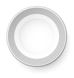 Simple plate view from above Isolated on white vector image vector image