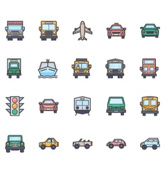 Transport Icons 4 vector image vector image