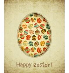 Vintage Retro Easter Card vector image vector image