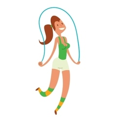 Beauty fitness girl weight loss vector