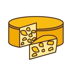 Delicious cheese dairy vector