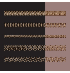 Gold chains set vector
