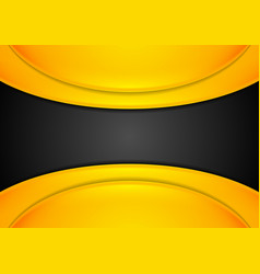 Orange and black abstract corporate background vector