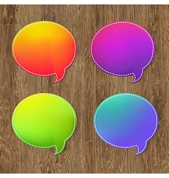 Antique Wooden Background With Speech Bubble vector image