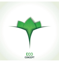 Eco conceptual template design vector