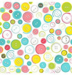 Seamless pattern with decorative sewing buttons vector