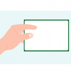 Hand and notepaper vector