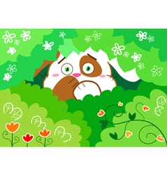 scared bunny vector image