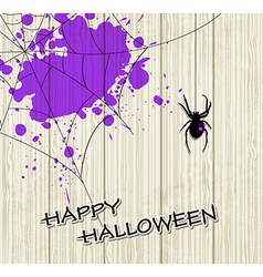 Spider and violet blots vector