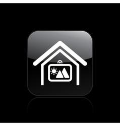 home square icon vector image