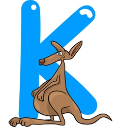 K for kangaroo vector