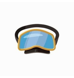 Diving mask icon cartoon style vector