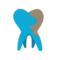 Tooth icon dental care design graphic vector