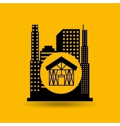 Industry construction icon vector
