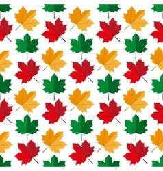 Autumn maple leafs pattern vector image