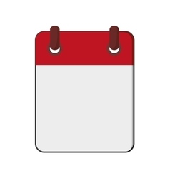 blank notepad icon vector image vector image