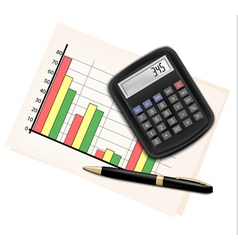 Business concept with finance graphs electronic vector image