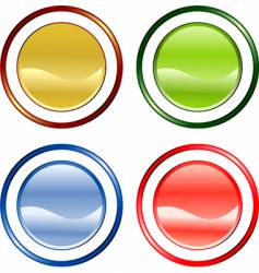 color buttons vector image