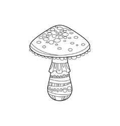 Death Cap Zentangle For Coloring vector image