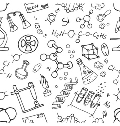 Doodle pattern chemistry vector image vector image