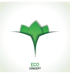 Eco conceptual template design vector