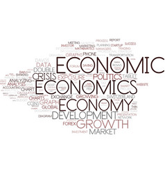 Economics word cloud concept vector