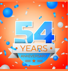 Fifty four years anniversary celebration vector