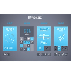 Flat design template for mobile devices - vector