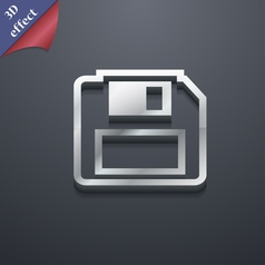 Floppy disk icon symbol 3d style trendy modern vector