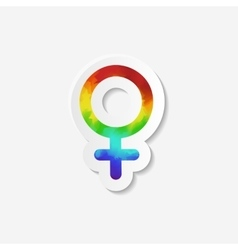 Gender identity icon female venus symbol vector