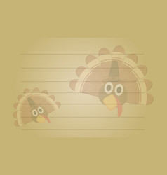 Greeting card style thanksgiving collection vector