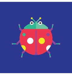 Ladybug Icon Insect vector image