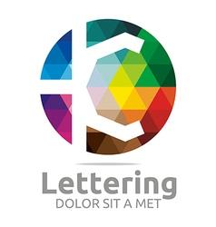 lettering k rainbow alphabet design vector image