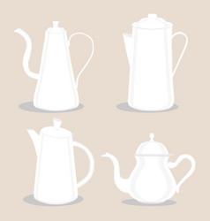 Logo for ceramic teapot vector