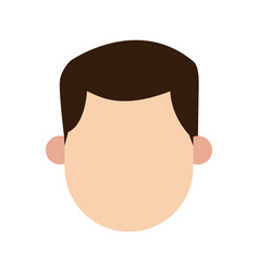 man brunette faceless people character image vector image