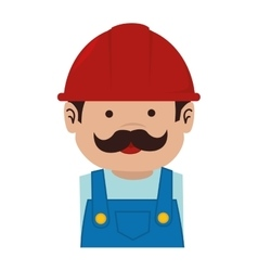 man helmet service mustache icon graphic vector image