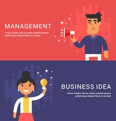 Managment and Business Idea Concepts Male and vector image
