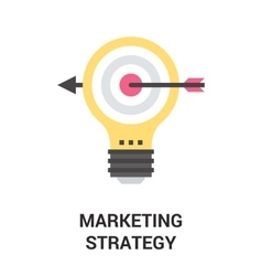 Marketing strategy icon vector