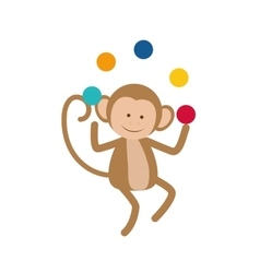 monkey juggling cartoon vector image