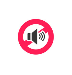 no sound sign icon noise vector image vector image