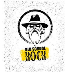 old school rock creative design element stylish vector image