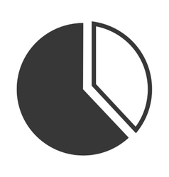 Pie chart graph icon vector