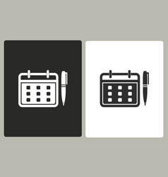 planning calendar - icon vector image