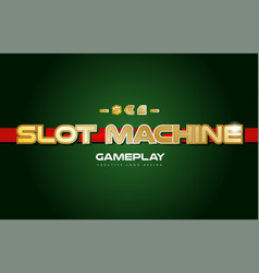 slot machine word text logo banner postcard vector image
