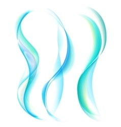 Smooth turquoise smoke isolated on white vector image