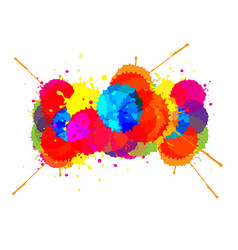 Splatter color background design vector