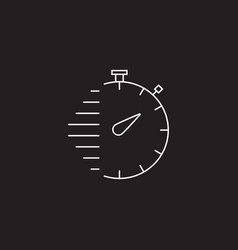 Stopwatch line icon outline sign vector