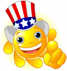 uncle Sam sun pointing vector image vector image
